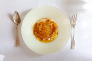 молекулярная карбонара рецепт авангардной кухни тальятели из бульона как сделать рецепт